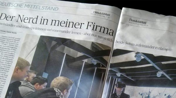 medium-sized companies and startups can learn from eachother- german newspaper Handelsblatt