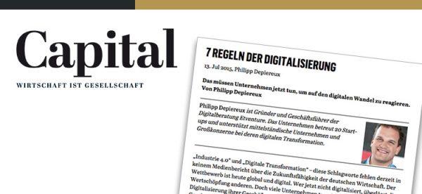 How does digitalization work, Mr Depiereux? Seven rules - Capital magazine