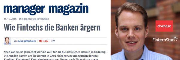 """""""Wie Fintechs die Banken ärgern"""" - etventure und FintechStars im Manager Magazin"""