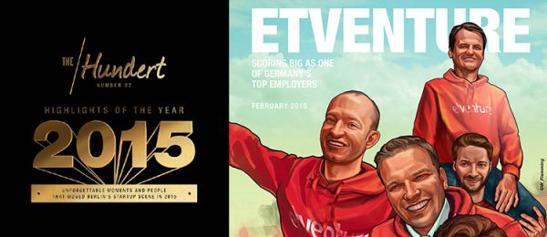 """Looking for the best employer in Berlin?"""" - etventure in der aktuellen Ausgabe von """"The Hundert"""""""