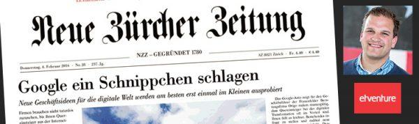 Philipp Depiereux im Gespräch mit der Neuen Zürcher Zeitung