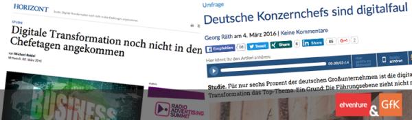 Berichterstattung zur Deutschlandstudie von etventure